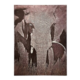 StyleCraft Tusker Printed On Metal Wall Art - Grey