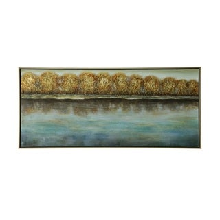 StyleCraft Trees Along The Shoreline Stretched Canvas Wall Art - Multi