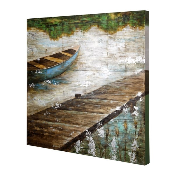 shop wooden slat panel hand embellished wall art free shipping