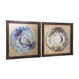 StyleCraft Chargers Painted Framed Wall Art (Set of 2)