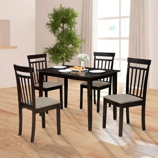 Furinno Kansas Dining Set with 1 Table and 4 Chairs