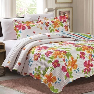 GHD - Juliet 3 Piece Reversible Quilt Set - Flower Heaven (2 options available)