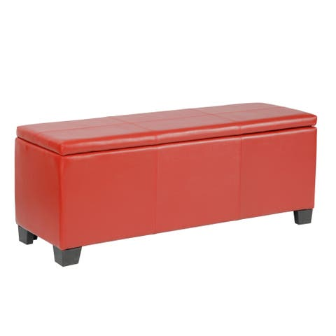 American Furniture Classics Model 500 Gun Concealment Bench - Fusion Red