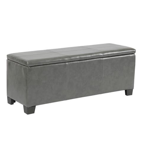 American Furniture Classics Model 501 Gun Concealment Bench - Gunmetal Gray