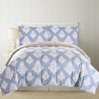 Amrapur Overseas 3-Piece Printed Reversible Down Alternative Comforter Set