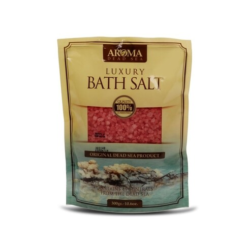 Aroma Dead Sea Luxury Bath Salt 300gr Rose Scented