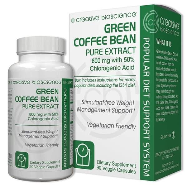 Shop Creative Bioscience Green Coffee Bean Pure Extract 60 Veggie