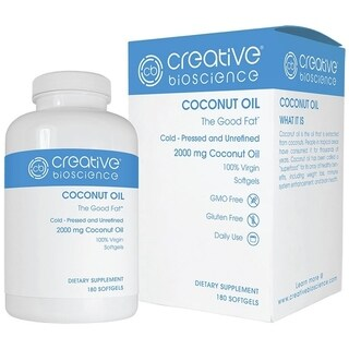 Creative Bioscience Coconut Oil (180 Softgels)