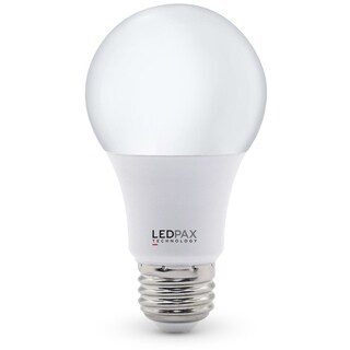 LEDPAX A19 Dimmable LED Bulb 9W (60W equivalent), 3000K, 800 Lumens,CRI 80, UL, ES Certified (6 Pack)