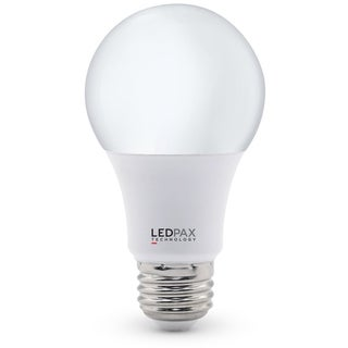 LEDPAX A19 Dimmable LED Bulb 9W (60W equivalent), 2700K, 800 Lumens,CRI 80, UL, ES Certified (6 Pack)