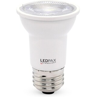 LEDPAX PAR16 Dimmable LED Bulb, 6W (50W equivalent), 4000K, 500 Lumens,CRI 80, UL, ES Certified (4 Pack)