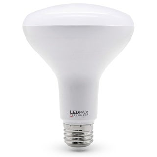 LEDPAX BR30 Dimmable LED Bulb, 9W (65W equivalent), 3000K, 650 Lumens,CRI 80, UL, ES Certified (4 Pack)