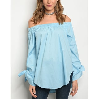 JED Women's Cotton Poplin Long Sleeve Off Shoulder Tunic Top (More options available)