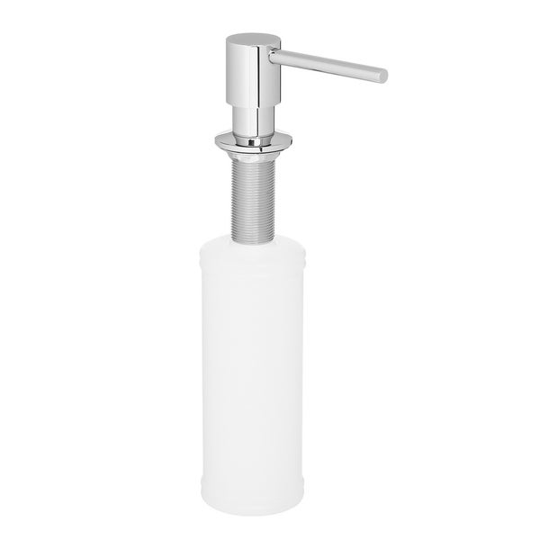 Ariel Built in Round Solid Construction Pump Deck Mount Modern Hand / Dish Soap Dispenser Stainless