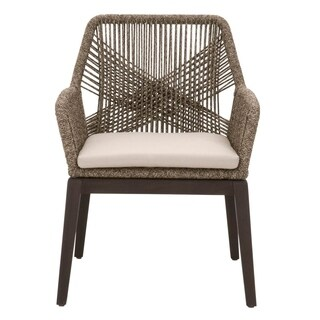 Curtis Mocha Rope Arm Chair (Set of 2)