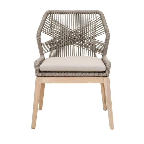 Shop Curtis Platinum Rope Outdoor Dining Chair Set Of 2