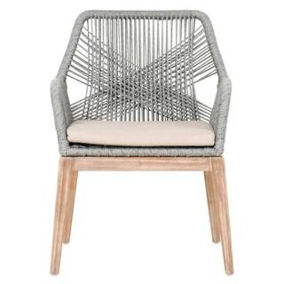 Curtis Platinum Rope Arm Chair (Set of 2)