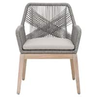 Curtis Platinum Rope Outdoor Dining Arm Chair (Set of 2)