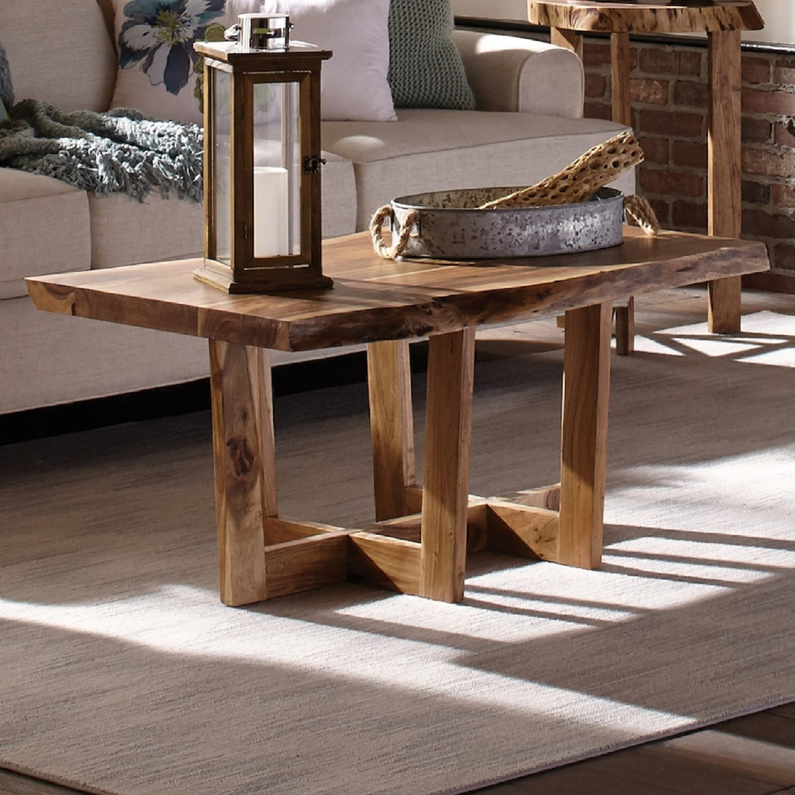 Berkshire Solid Wood Natural Live Edge Coffee Table On Sale Overstock 20969224