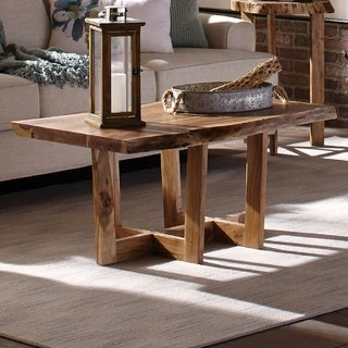 "Berkshire 42"" Natural Live Edge Solid Wood Coffee Table"