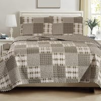 Woodland Collection 3-Piece Printed Quilt Set with Shams