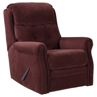 Gorham Contemporary Glider Recliner Mulberry