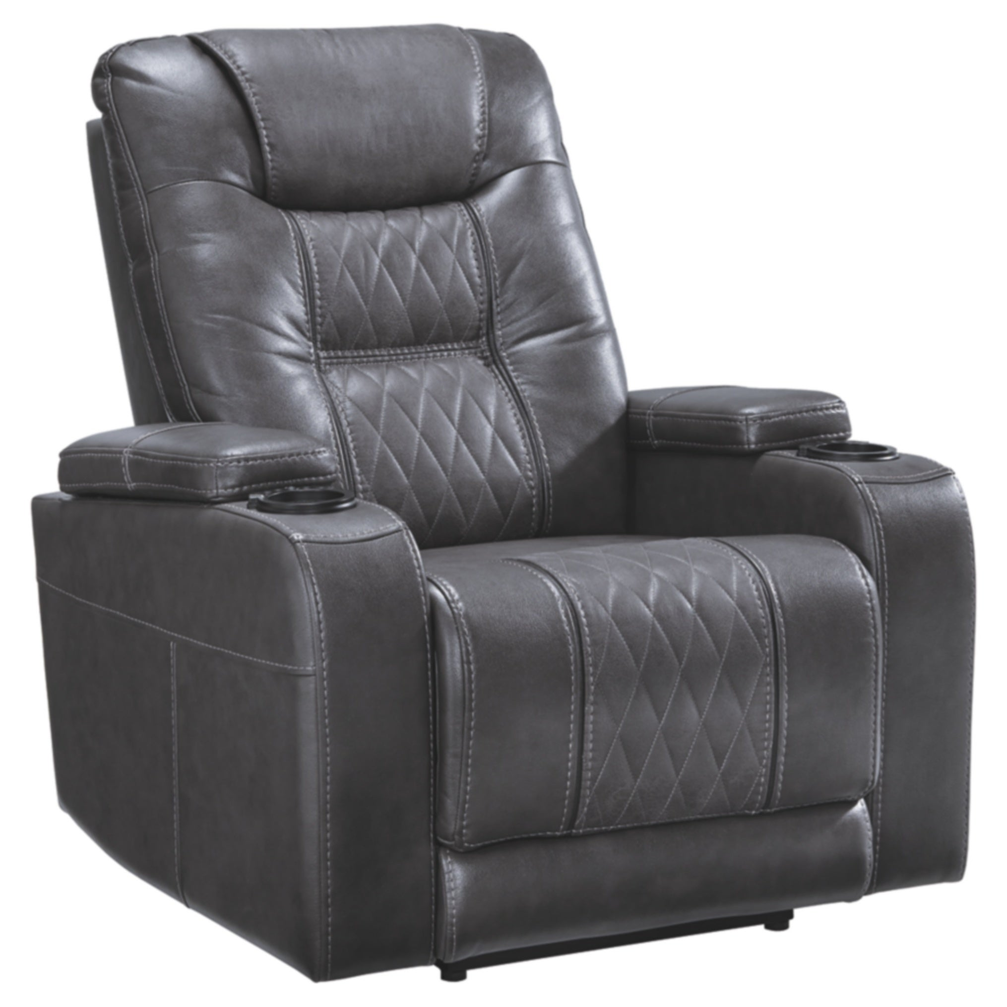Signature Design by Ashley Gray Composer Power Recliner Grey