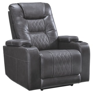 Signature Design by Ashley Gray Composer Power Recliner w/Adjustable Headrest