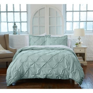 Analia Collection 100% Microfiber Duvet Cover with Textured Pintuck Pattern