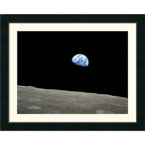 Framed Art Print 'Earthrise, Apollo 8, December 24, 1968' by NASA 31 x 25-inch