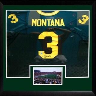 30x34 Framed Autographed Custom Jersey - Joe Montana Notre Dame