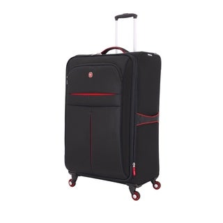 SwissGear Black/Red 28- inch Lightweight Sofside Spinner Suitcase