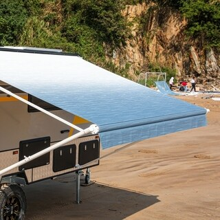 ALEKO 21'X8' Retractable RV or Home Patio Canopy Awning