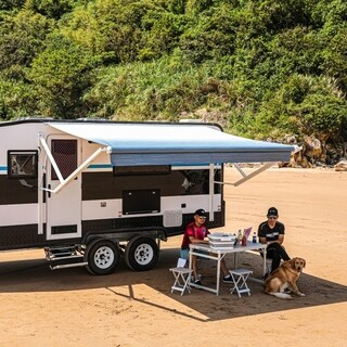 ALEKO 21'X8' Retractable Motorized RV or Home Patio Canopy Awning (4 options available)