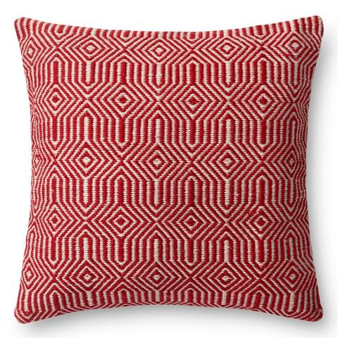 Indoor/ Outdoor Geometric Contemporary 22-inch Throw Pillow or Pillow Cover