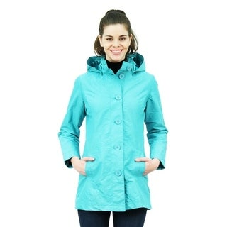 Women's Button Up Jacket with Detachable Hood