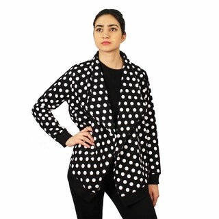 Women's Polka Dot Knit Jacket
