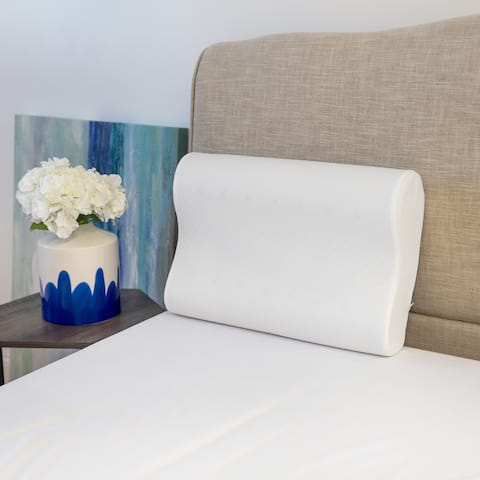 Restonic Classic Contour Memory Foam Pillows - White
