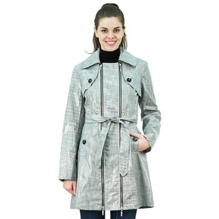 Belted Zip Front Rainwear Trench Coat