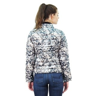Happy Duck Faux Down Printed Puffer Jacket
