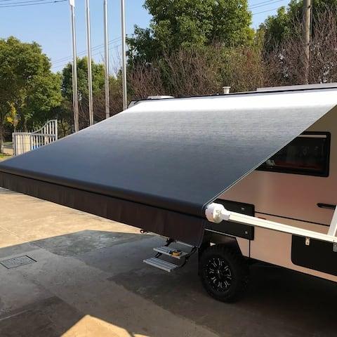 ALEKO Vinyl 10'X8' Retractable RV or Home Patio Canopy Awning