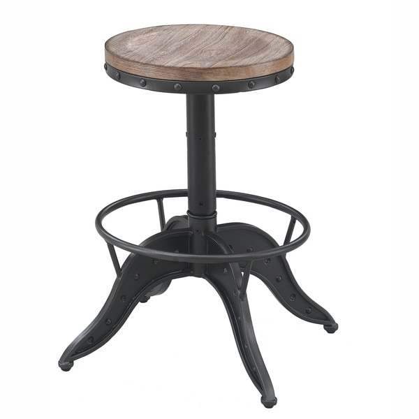 Stella Adjustable Height Backless Swivel Bar Stool by Greyson Living