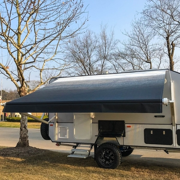 ALEKO Retractable Motorized RV or Home Patio Canopy Awning 10'X8'