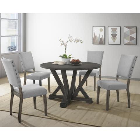 Best Master Furniture 5 Pcs Antique Grey Dinette Set