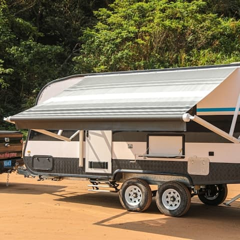 ALEKO Retractable Motorized RV or Home Patio Canopy Awning 13'X8'