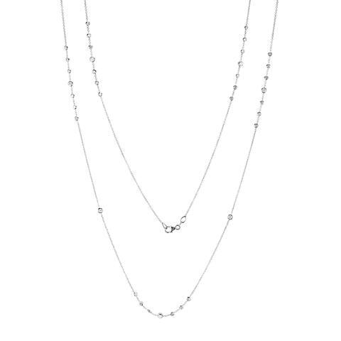 Annello by Kobelli 14k Gold 2ct TDW Diamond 42 Inch Station Necklace