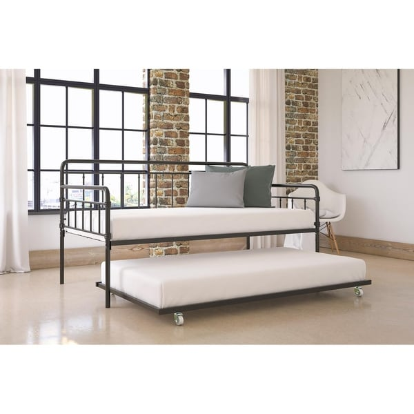 e1a8feceb9de Shop DHP Wallace Metal Daybed with Trundle - Free Shipping Today ...