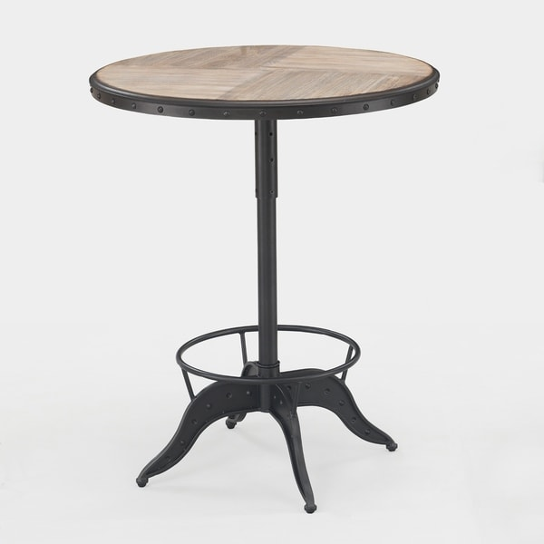 Shop Aislyn Adjustable Height Pub Table By Greyson Living Free - Adjustable height cafe table