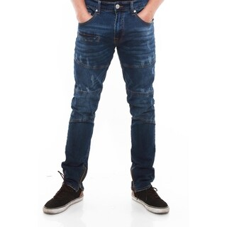 Mens Moto Utility Inspired Skinny Stretch Jeans