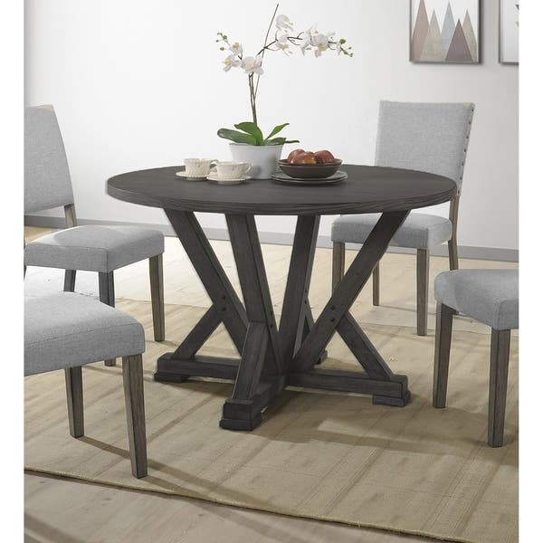 Best Master Furniture Antique Grey Round Dining Table